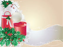 Silver christmas card Royalty Free Stock Images