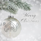 Silver Christmas card Royalty Free Stock Photo