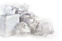Silver christmas card Royalty Free Stock Photo