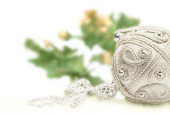 Silver Christmas composition Stock Photos