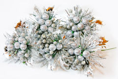 Silver Christmas decor Royalty Free Stock Images
