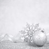 Silver christmas decor stock photos
