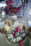 Silver christmas decoration Stock Image