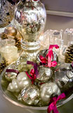 Silver christmas decoration Royalty Free Stock Image