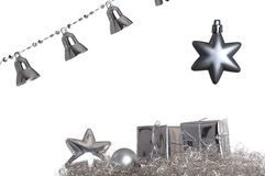 Silver christmas decoration Stock Photography