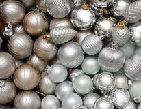 Silver Christmas Decoration Stock Photos