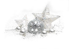 Silver Christmas decoration Royalty Free Stock Images