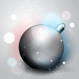 Silver Christmas decoration ball Stock Image