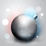 Silver Christmas decoration ball Stock Image