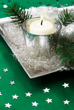 Silver, Christmas decorations. Stock Photos