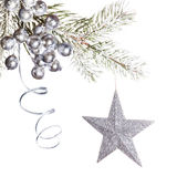 Silver Christmas decorations Stock Photography