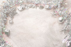 Free Silver Christmas Decorations Stock Photos - 47305143