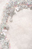 Silver christmas decorations Royalty Free Stock Photography
