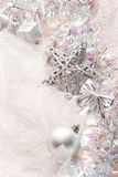 Silver christmas decorations Royalty Free Stock Photo
