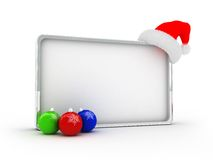 Silver christmas frame Stock Photography