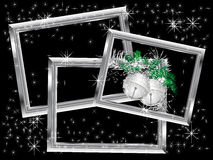 Silver Christmas frames Royalty Free Stock Images