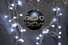 Silver Christmas Globe Royalty Free Stock Photos