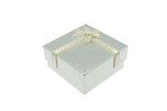 Silver Christmas and Important Festival Gift Box Royalty Free Stock Images
