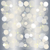 Silver christmas light background Royalty Free Stock Image