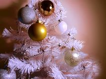 Silver Colorful Modern Christmas tree with colorful decoration modern Elements of holiday,Happy new yea