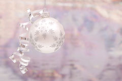 Silver Christmas ornament Stock Image