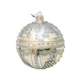Silver Christmas ornament Royalty Free Stock Photography