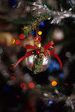 Silver Christmas Ornament Royalty Free Stock Photos