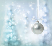 Silver Christmas Ornament royalty free stock image