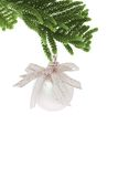 Silver Christmas ornament Stock Photography