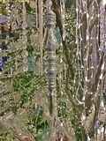 Silver Christmas Ornament. Christmas - Holiday background, suitable for seasonable websites or for many other holiday uses signs, newsletters, cards, etc Stock Photos