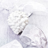 Silver Christmas Ornaments close up. Christmas Decorations with Royalty Free Stock Photos