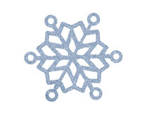Silver Christmas snowflake isolated on white Royalty Free Stock Image
