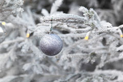 Silver Christmas Stock Photography