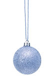 Silver Christmas sphere Stock Photos