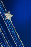 Silver Christmas  star Royalty Free Stock Image