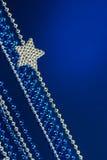 Silver Christmas  star Royalty Free Stock Image