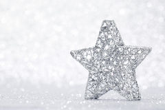 Silver Christmas star Royalty Free Stock Photography