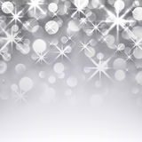Silver christmas starry background. Silver starry christmas background. Greeting card. Vector illustration Royalty Free Illustration