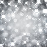 Silver christmas starry background. Stock Images