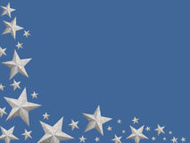 Silver Christmas stars (isolated) Royalty Free Stock Photos