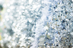 Silver Christmas tinsel Royalty Free Stock Photos