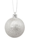 Silver Christmas toy, isolated on white background Stock Photography