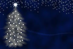 Silver christmas tree Royalty Free Stock Images