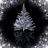 Silver Christmas-tree Stock Photo