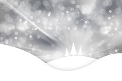 Silver Christmas tree abstract greeting card Stock Photos