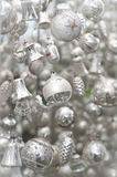 Silver Christmas Tree Decoration Royalty Free Stock Photography