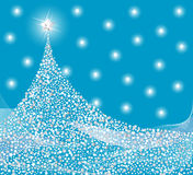 Silver Christmas tree design Stock Photo