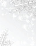 Silver christmas tree frame royalty free stock images