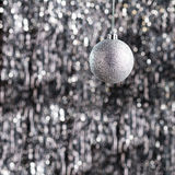 Silver christmas tree ornament Royalty Free Stock Photography