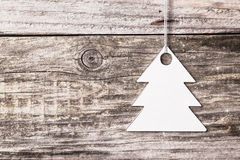 Silver christmas tree Stock Images